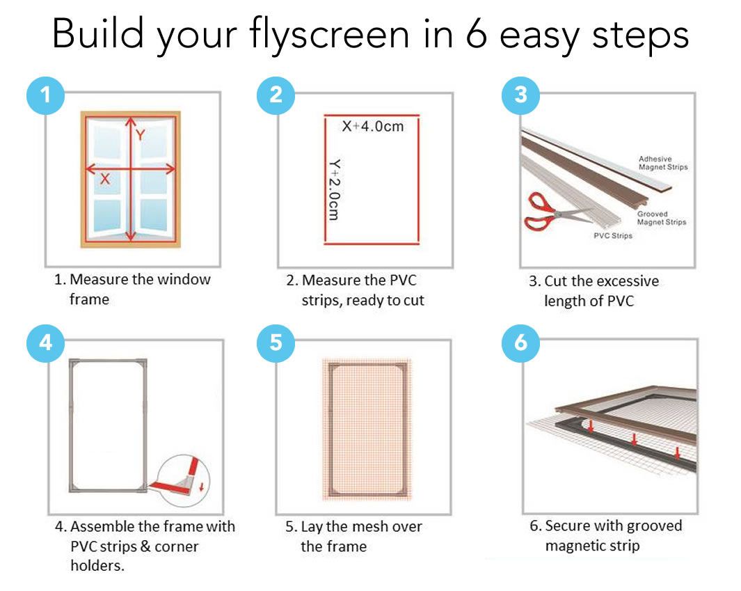 self install window flyscreens